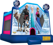 BOUNCY FROZEN JUMPING CASTLE FOR HIRE