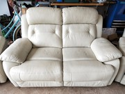 3-PIECE LEATHER RECLINING LOUNGE SUITE